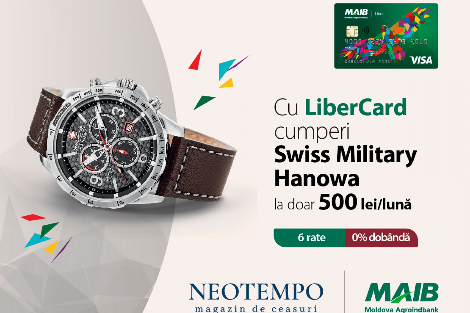 <p><strong>Prinde aripi la NEOTEMPO</strong><strong> </strong><strong>cu LiberCard de la MAIB!</strong></p>