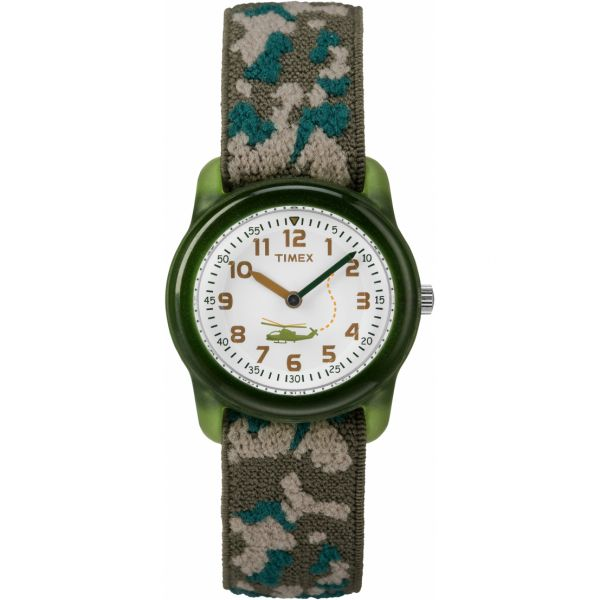 Kids Analog 29mm Elastic Fabric Strap Watch