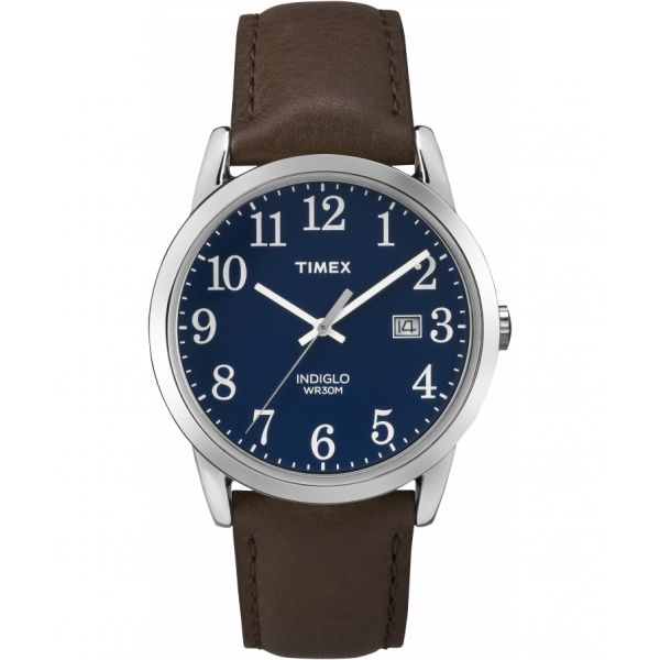 Easy Reader 38mm Leather Strap Watch
