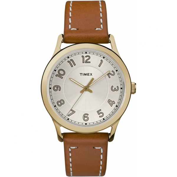 New England 36mm Leather Strap Watch