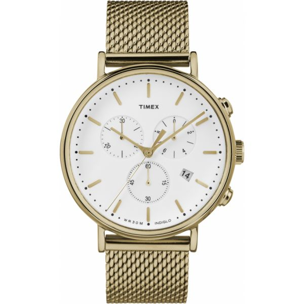 Fairfield Chronograph 41mm Mesh Band Watch