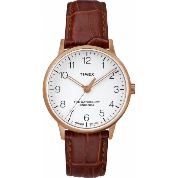 Waterbury Classic 36mm Leather Strap Watch
