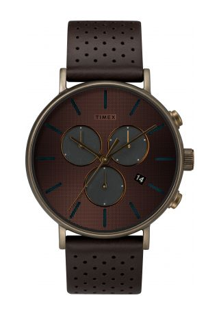 Fairfield Chronograph Supernova™ 41mm Leather Strap Watch