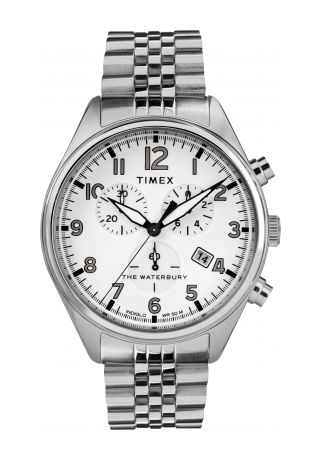 Waterbury Traditional Chronograph 42mm Stainless Steel Bracelet Watch
