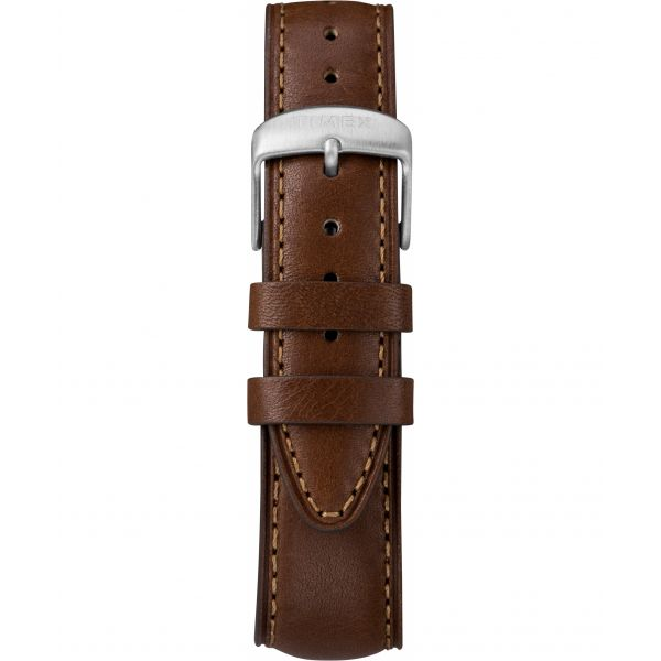 Waterbury Traditional Day Date 42mm Leather Strap Watch
