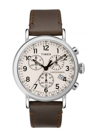 Standard Chronograph 41mm Leather Strap Watch