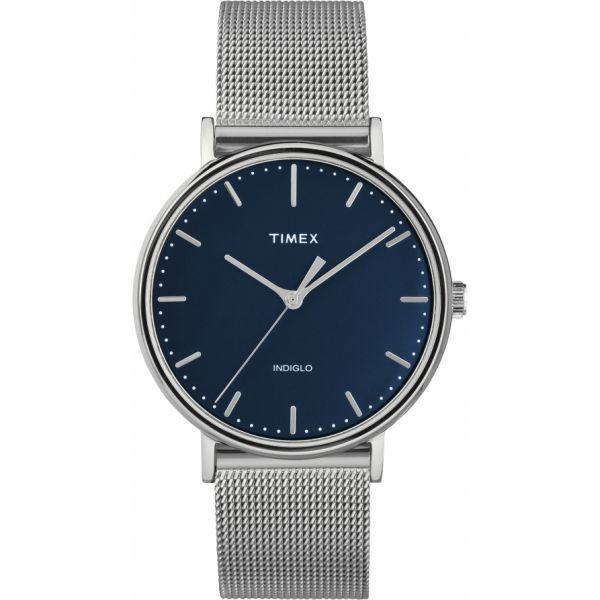 Fairfield 37mm Stainless Steel Mesh Band Watch
