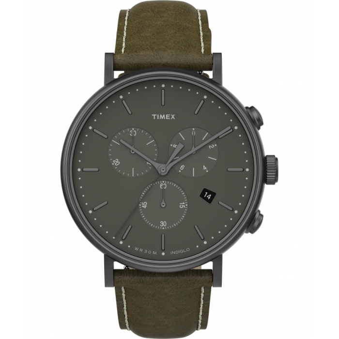Fairfield Chronograph 41mm Leather Strap Watch