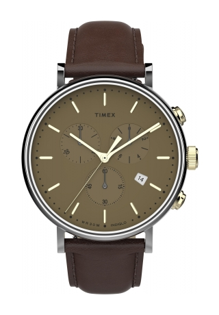 Fairfield Chronograph 41mm Leather Strap Watc