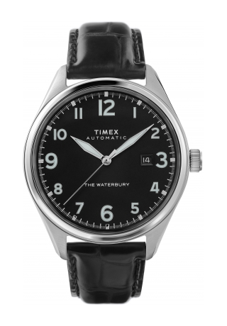 Waterbury Traditional Automatic 42mm Leather Strap Watch
