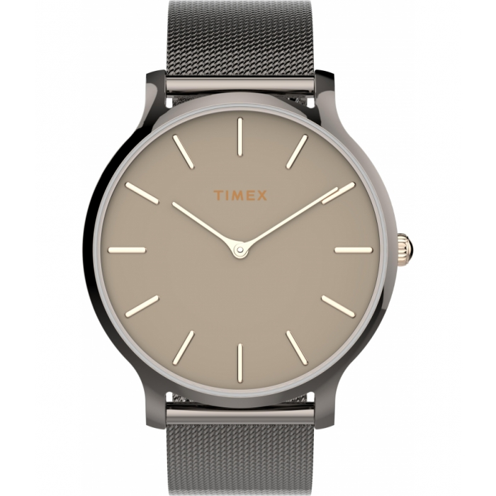 Transcend™ 38mm Stainless Steel Mesh Band Watch