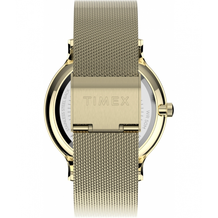 Transcend™ Multifunction 38mm Stainless Steel Mesh Band Watch