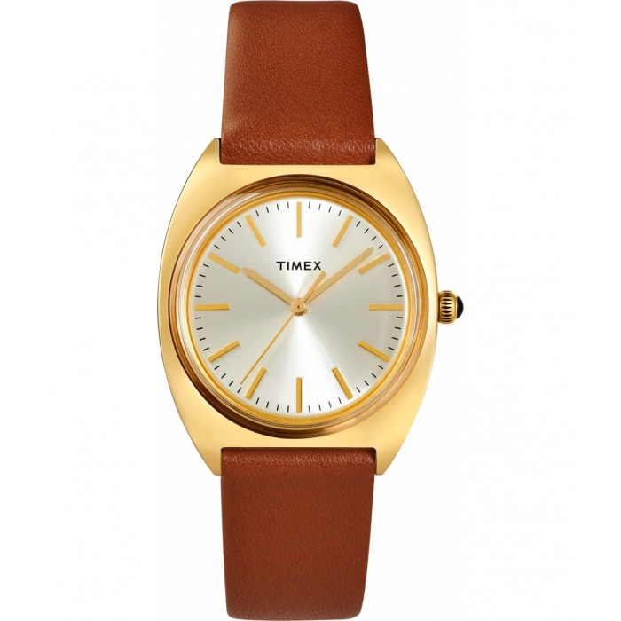 Milano 33mm Leather Strap Watch