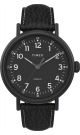 Timex® Standard XL 43mm Leather Strap Watch