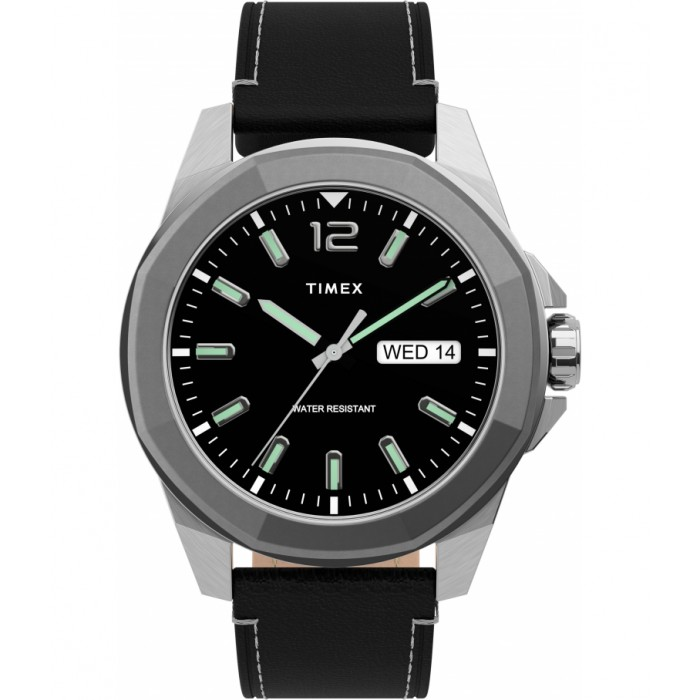 Essex Avenue 44mm Leather Strap Watch