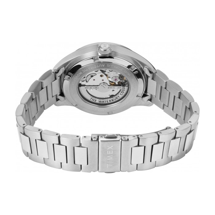 Waterbury Traditional Automatic Open-Heart Dial 42mm Stainless Steel Bracelet Watch
