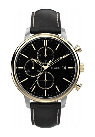 Chicago Chronograph 45mm Leather Strap Watch